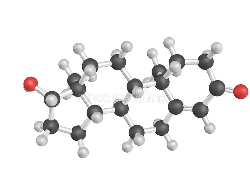 Kemisk struktur av testosteron stock illustrationer