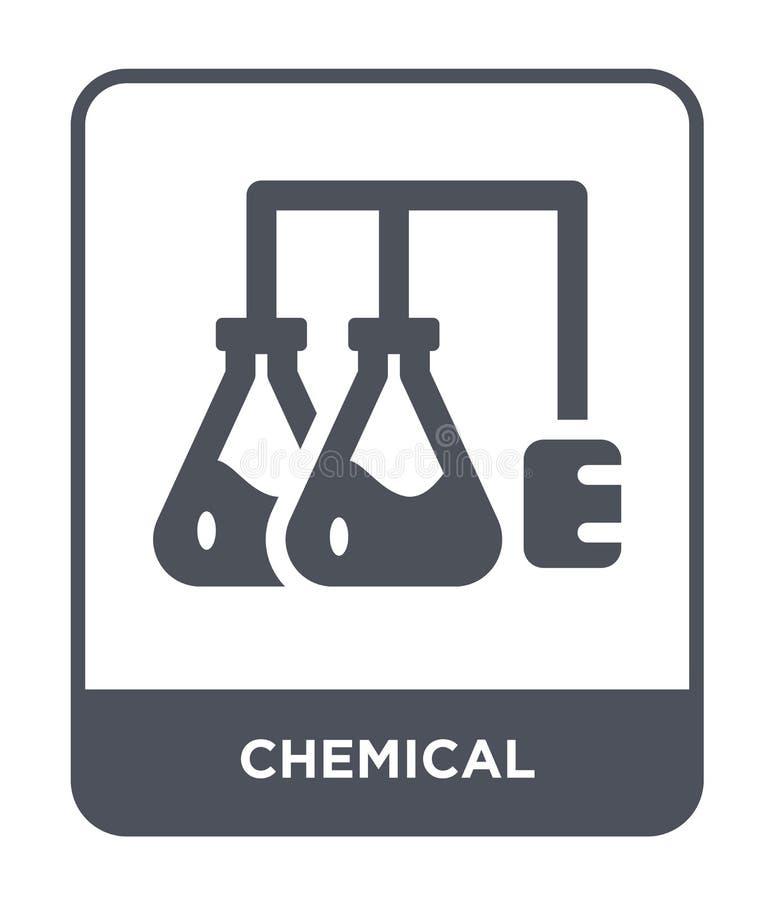 kemisk symbol i moderiktig designstil E enkel och modern lägenhet för kemisk vektorsymbol vektor illustrationer