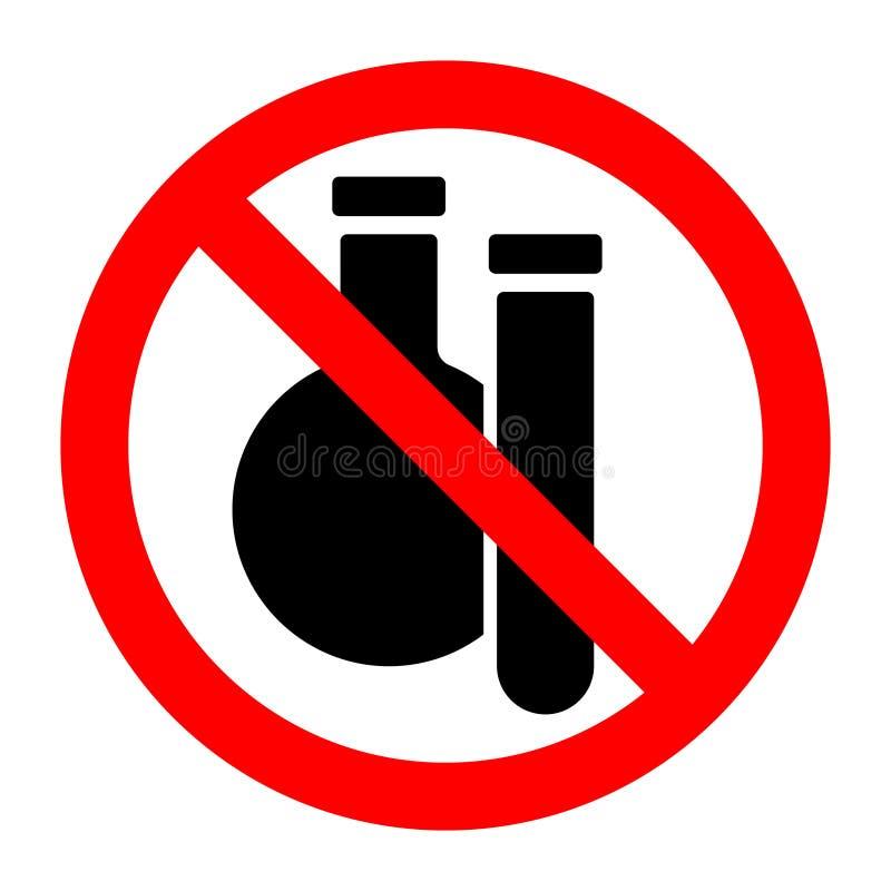 Kemiska vikter stoppar det förbjudna förbudtecknet stock illustrationer