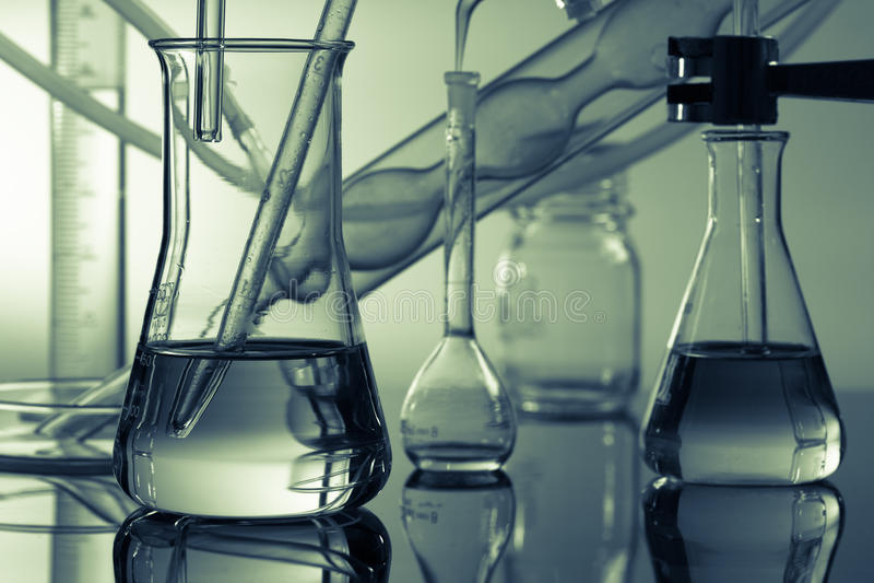 kemiska ware i vetenskapen arkivbild