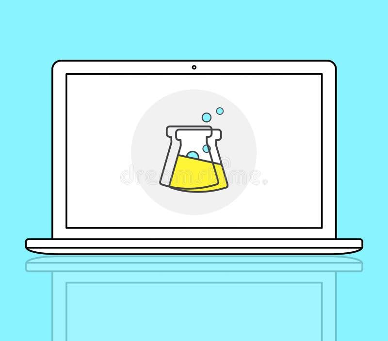 Kemiskt begrepp för utbildningsexperimentformel vektor illustrationer