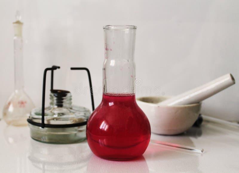 Kemiskt laboratoriumfoto fotografering för bildbyråer