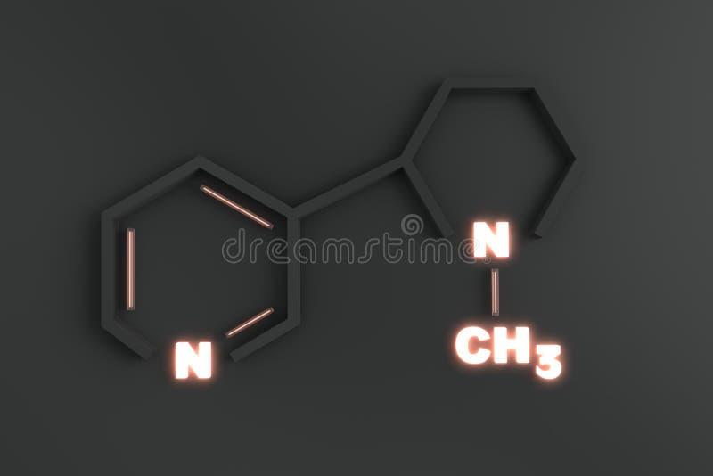 Kemiskt strukturera av nikotin royaltyfri bild
