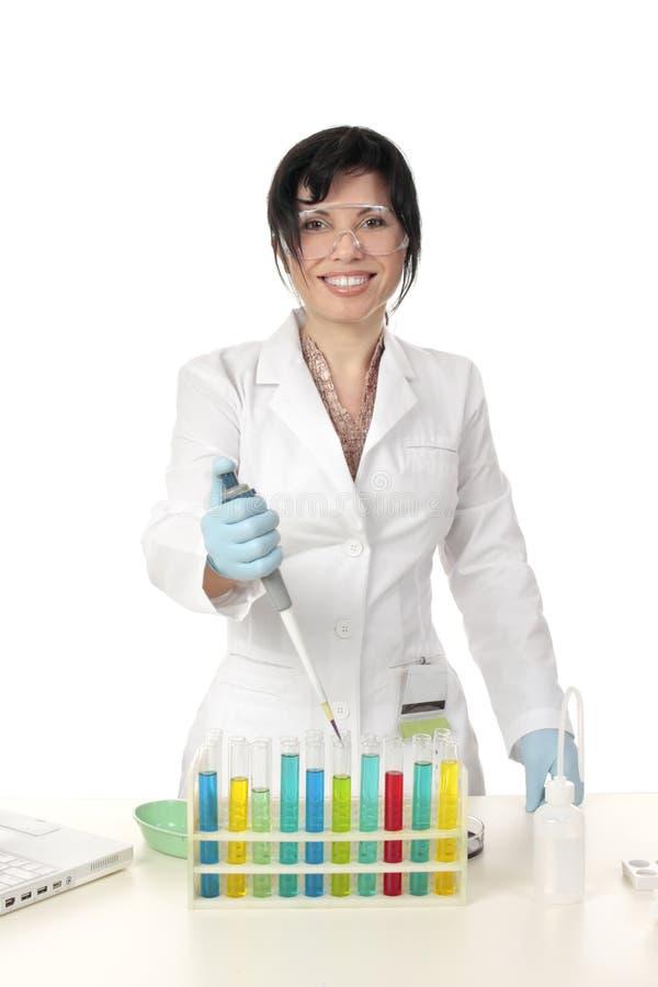 kemivetenskapsprovning royaltyfri bild