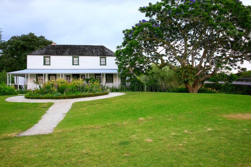 Kemp House è la più vecchia costruzione della Nuova Zelanda immagine stock