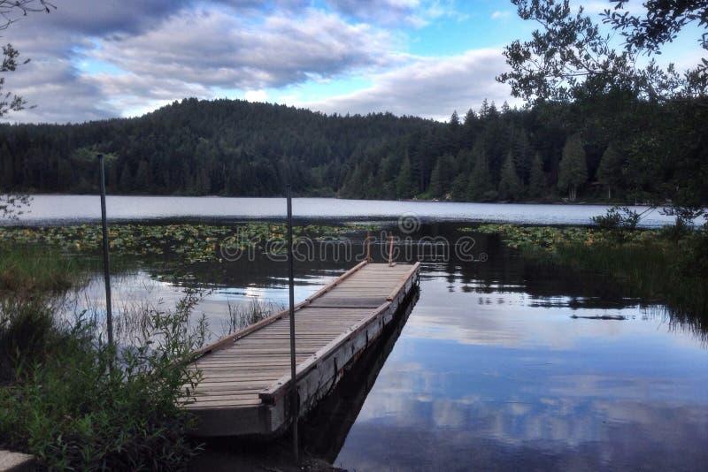 Kemp Lake bij Schemer royalty-vrije stock foto