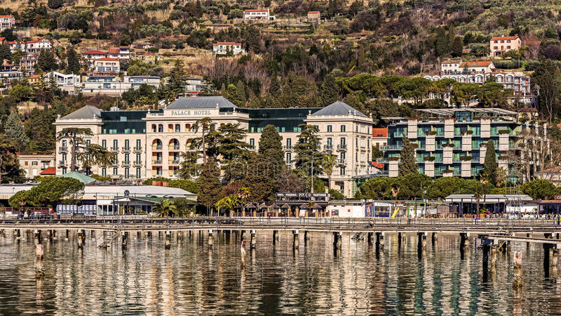 Kempinski Palace. Built in 1910, one of the most important resorts for the Austro-Hungarian monarchy, currently one of the finest hotels on the Adriatic coast stock photo
