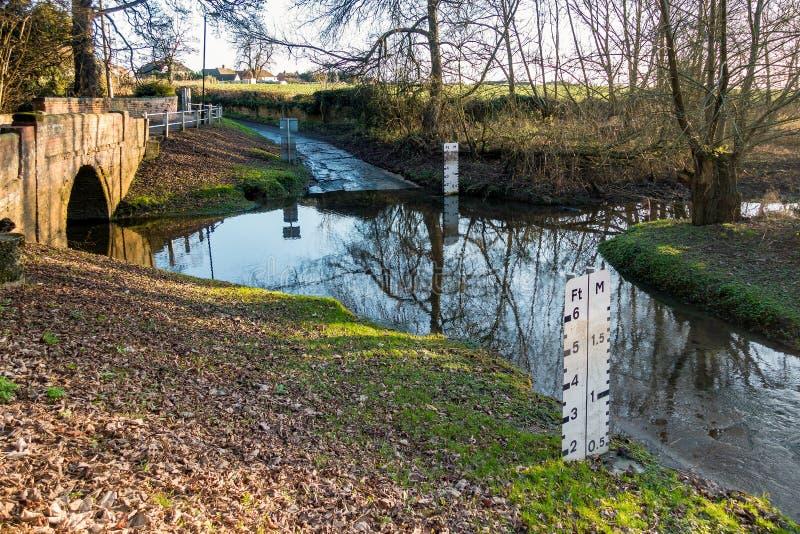 KEMPSEY, WORCESTERSHIRE/UK - 26 DÉCEMBRE : Ford chez Kempsey dans W image libre de droits