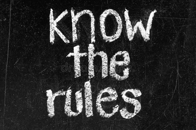 Ken de regels royalty-vrije stock foto
