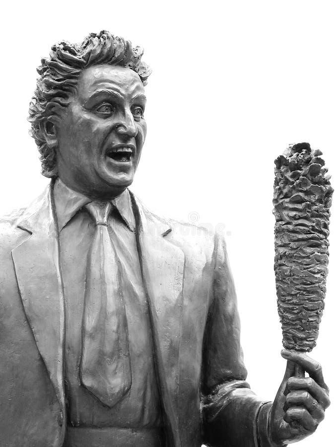 Ken Dodd staty i Liverpool arkivbilder