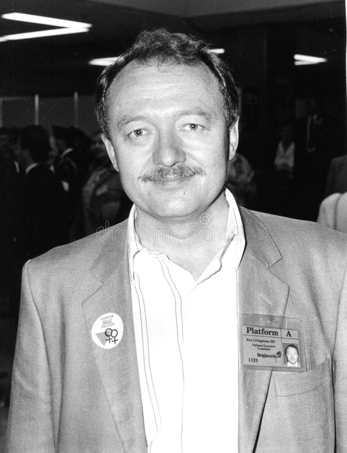 Ken Livingstone. Former Mayor of London and former Labour party Member of Parliament for Brent East, at the Labour conference on October 5, 1989 in Brighton royalty free stock image