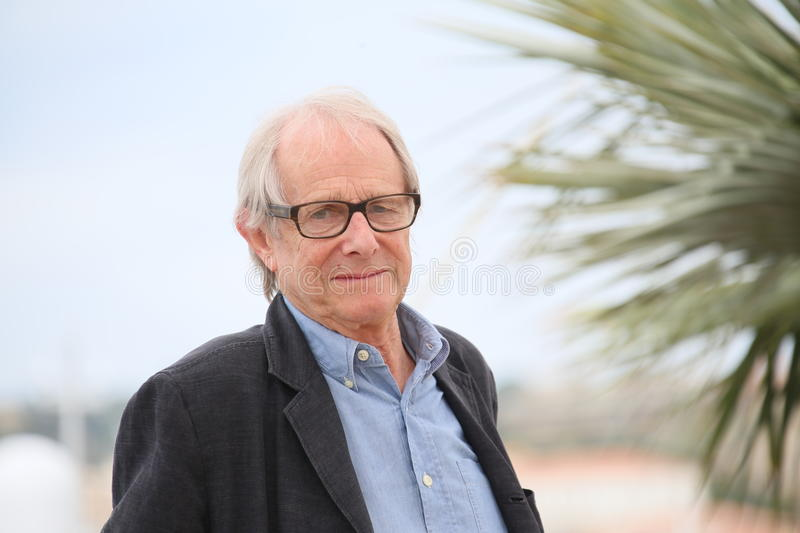 Ken Loach. Director Ken Loach attends the 'I, Daniel Blake' photocall during the 69th annual Cannes Film Festival at the Palais des Festivals on May 13, 2016 in stock image