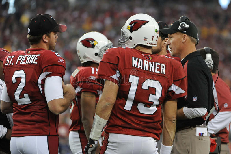 Ken Whisenhunt Coach para los Arizona Cardinals fotos de archivo