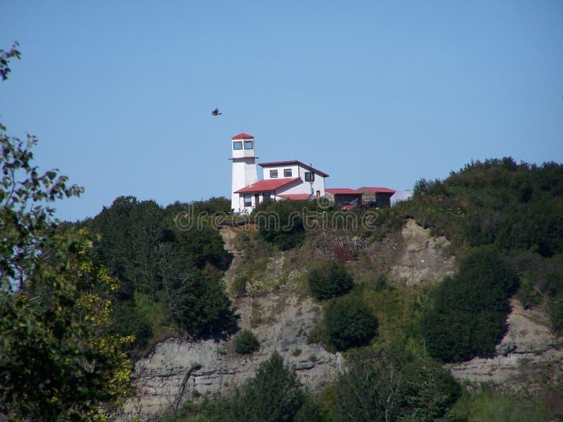 Kenai półwysepa latarnia morska na falezie zdjęcie royalty free