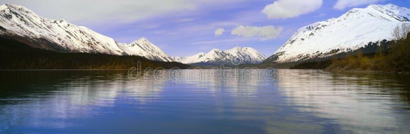 Kenai sjö, Kenai halvö, Alaska royaltyfria foton