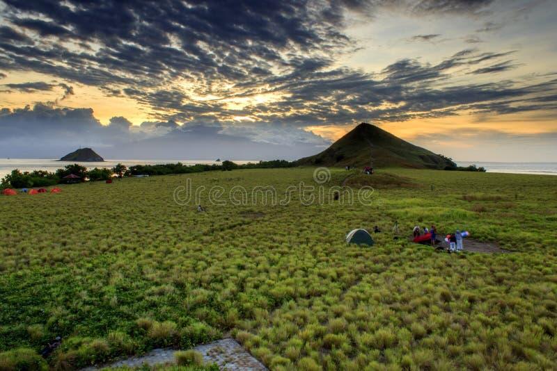 Kenawa ö indonesia fotografering för bildbyråer