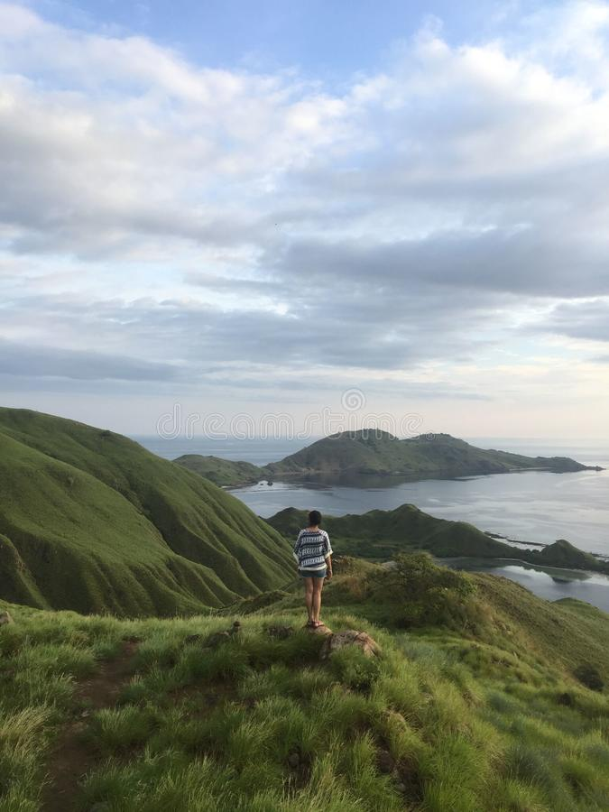 kenawa island, komodo national park stock photo