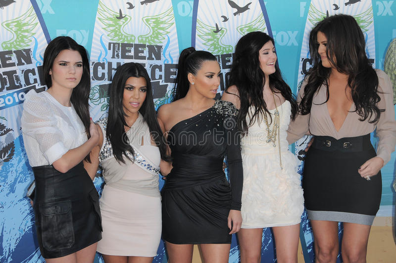 Kendall Jenner, Khloe Kardashian stockfotografie