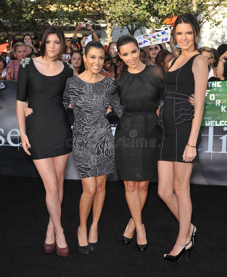 Kendall Jenner, Kim Kardashian, Kourtney Kardashian, Kylie Jenner royalty free stock photo