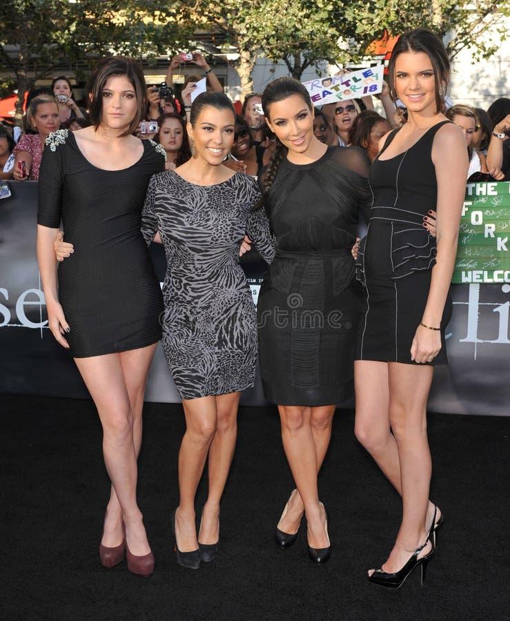 Kendall Jenner, Kim Kardashian, Kourtney Kardashian, Kylie Jenner photo libre de droits