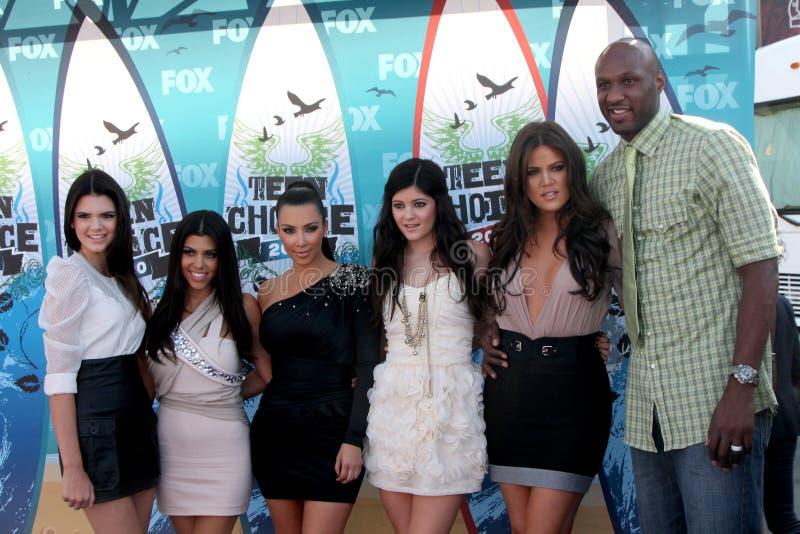 Kendall Jenner, Kim Kardashian, Kylie Jenner, Khloe Kardashian, Khloe Kardashian, Khloe Kardashian Odom, Khloe' Kardashian, Lamar  zdjęcie royalty free