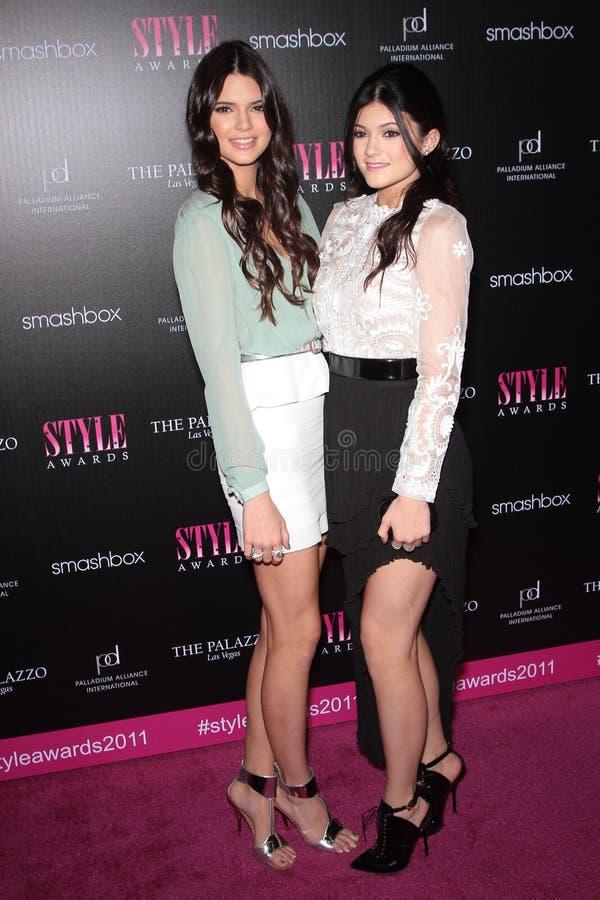 Kendall Jenner, Kylie Jenner imagem de stock