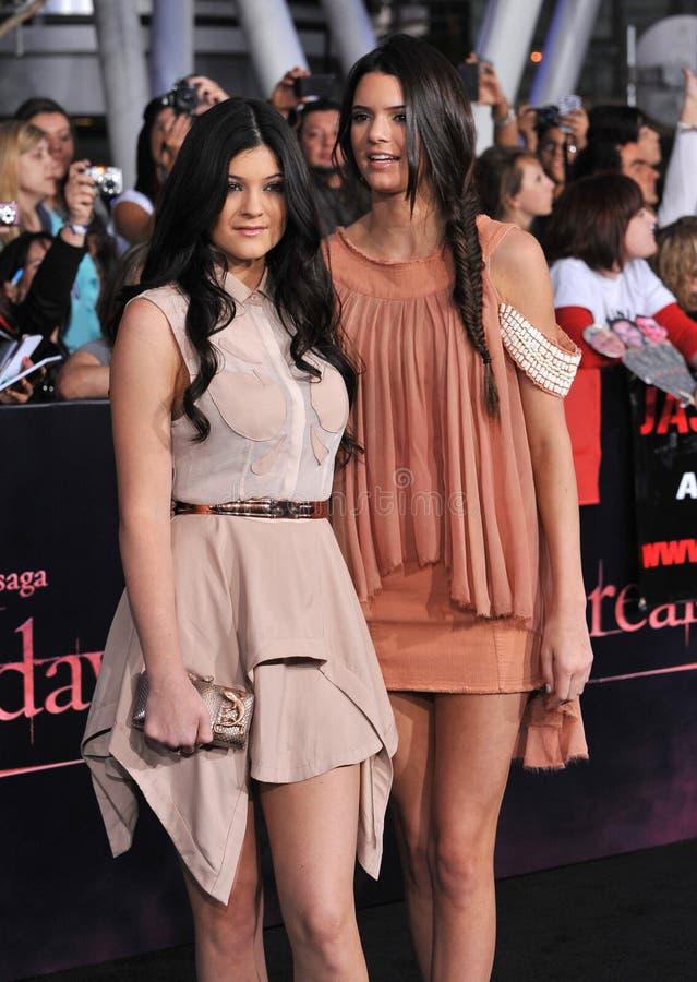 Kendall Jenner, Kylie Jenner image libre de droits