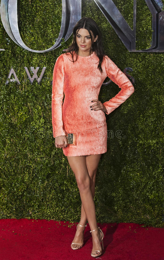 Kendall Jenner at 2015 Tony Awards stock photography