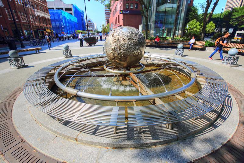 Kendall Square vicino alla città universitaria del MIT immagine stock