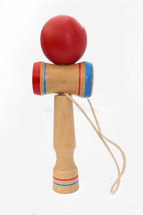 Kendama,包括剑和球的一个传统日本玩具由串连接了 库存照片