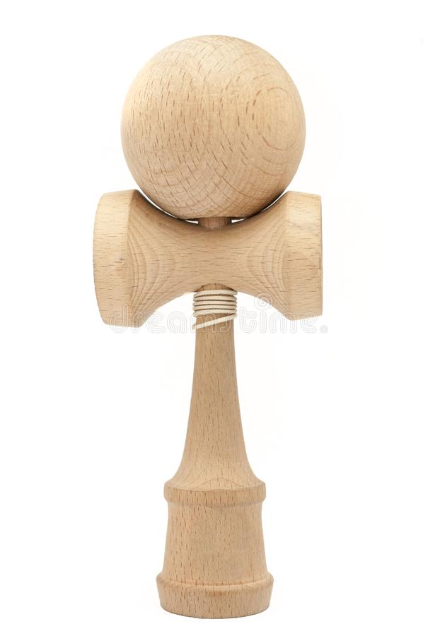 Kendama isolated, on white background. Kendama is an antique traditional japanese wood toy royalty free stock image