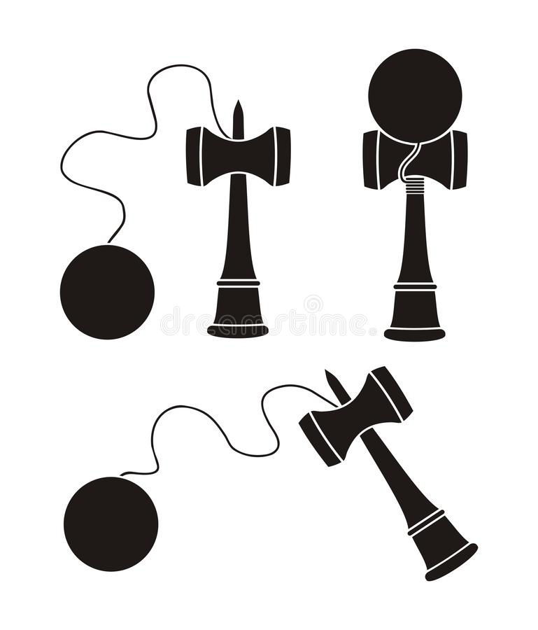 Free Kendama Silhouette Royalty Free Stock Photo - 49847455
