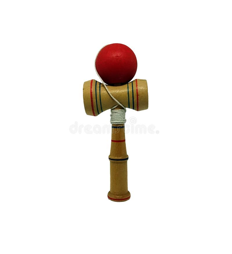 Kendama, a traditional Japanese skill toy. stock image