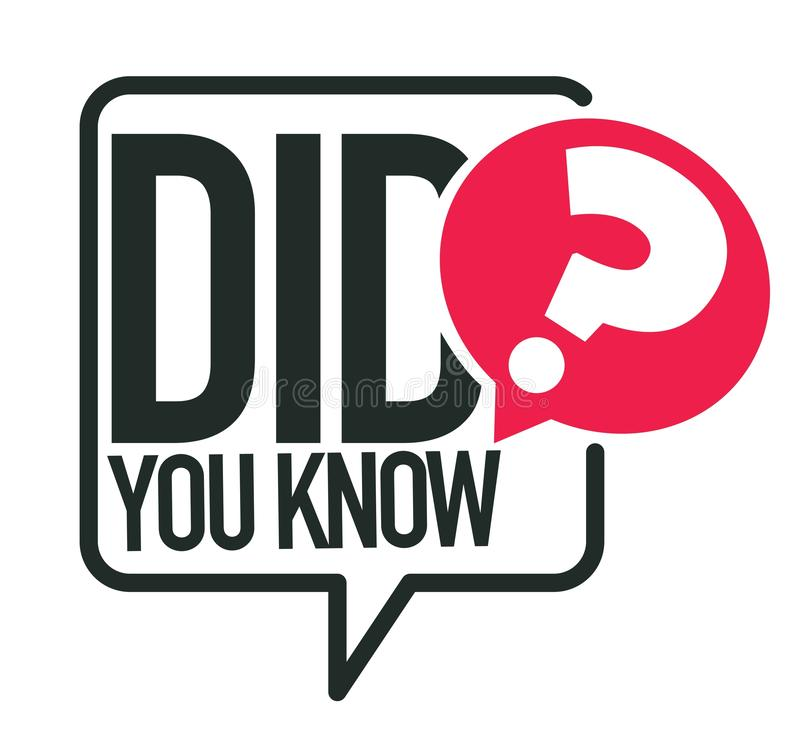 Kende u vraag of interessant feit geïsoleerd pictogram vector illustratie