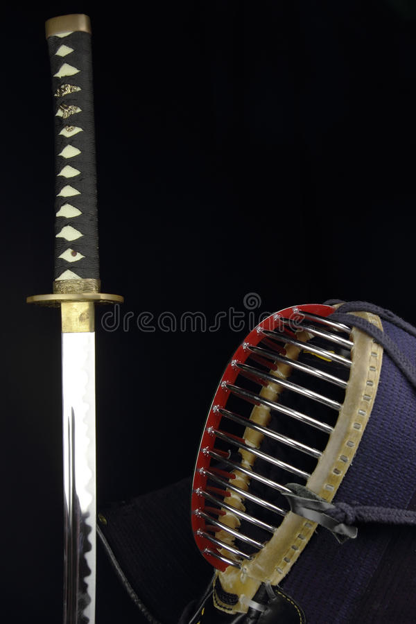 Kendo概念工作室射击 免版税库存图片