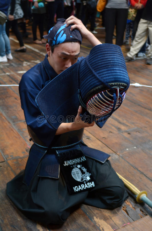 "Kendo †""日本武术 免版税图库摄影"