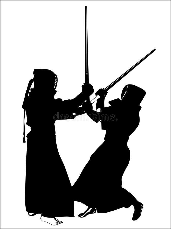 Kendo illustration de vecteur