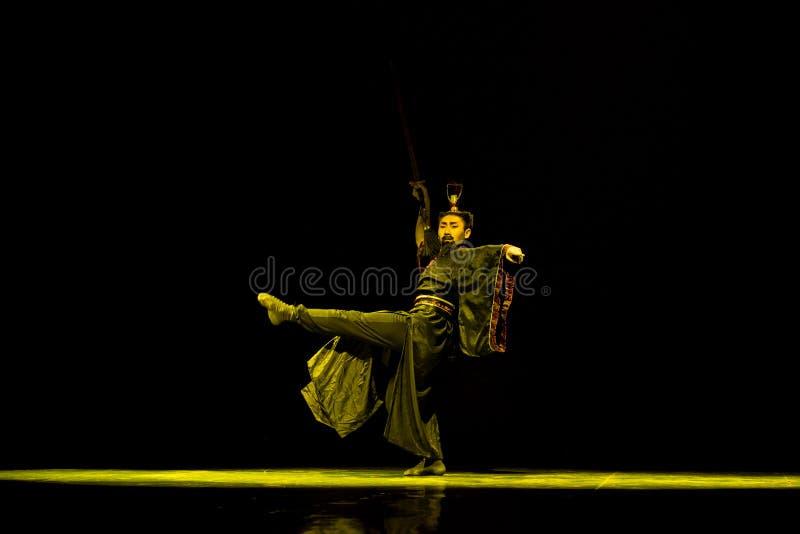 Kendo-Chinese classical dance. Graduation performance of class5, grade 11, dancing department,Jiangxi Vocational Academy of Art on Dec30,2015 stock image