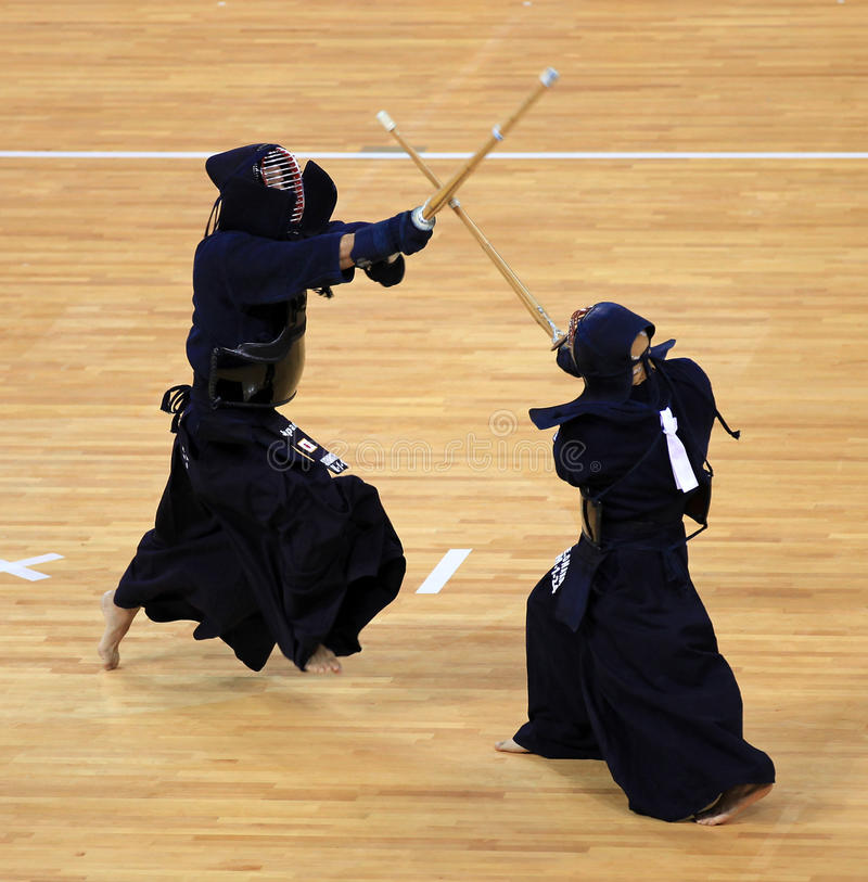 Kendo competition stock images