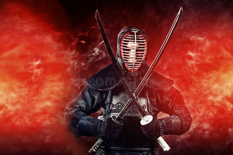 Kendo do guerreiro fotos de stock royalty free