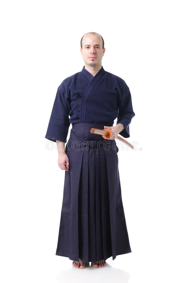 Kendo fighter royalty free stock images