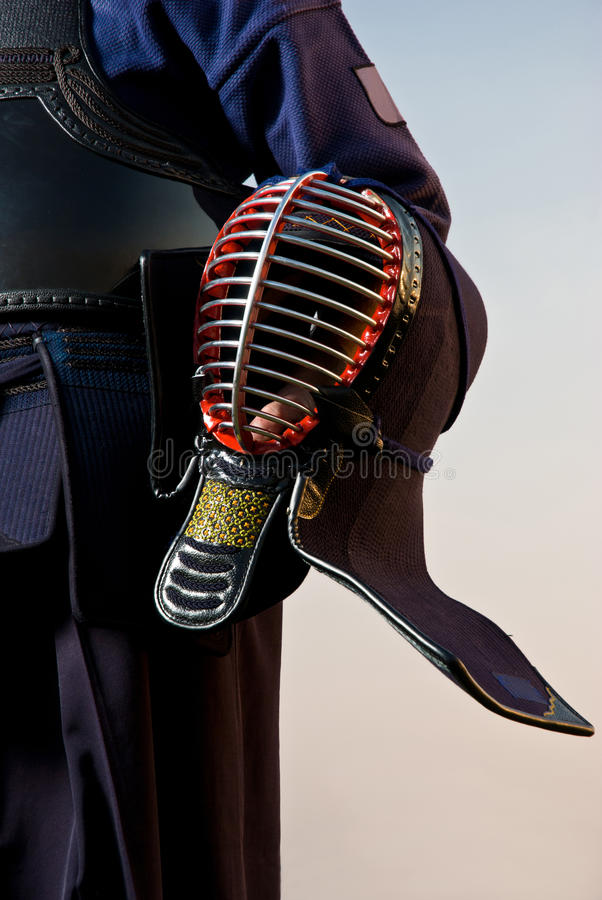 Kendo fighter - detail royalty free stock images