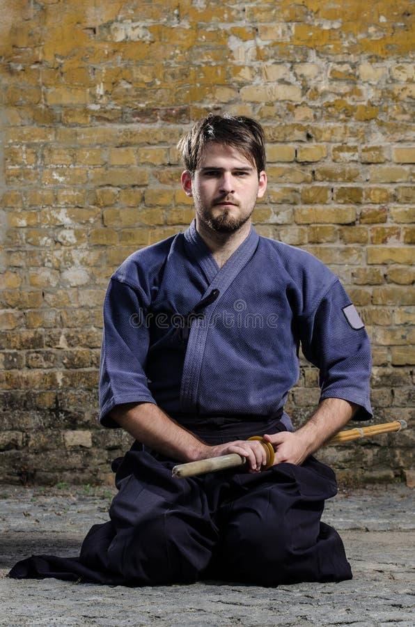 Kendo Kämpfer lizenzfreies stockbild