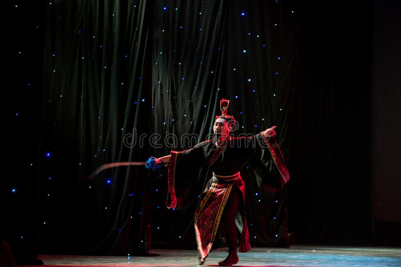 Kendo-kines klassisk dans arkivbilder