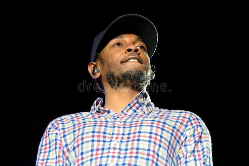 Kendrick Lamar (artiste exécutant américain d'houblon de hanche) images stock