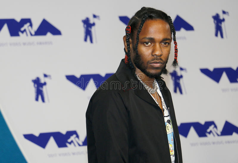 Kendrick Lamar. At the 2017 MTV Video Music Awards held at the Forum in Inglewood, USA on August 27, 2017 royalty free stock image