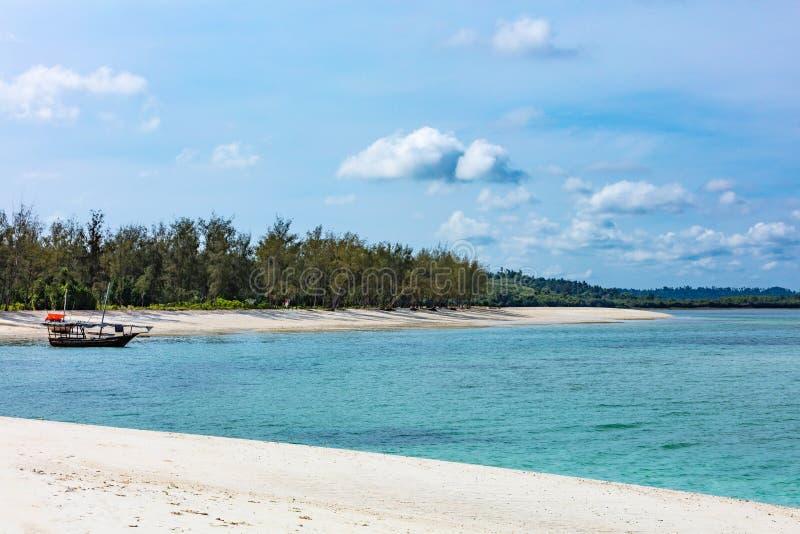 Kendwa pla?y Unguja Zanzibar wyspa Tanzania Afryka Wschodnia fotografia stock