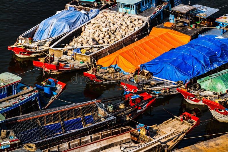 Kenh Te Channel, Bezirk 7, Saigon, Vietnam stockfotografie