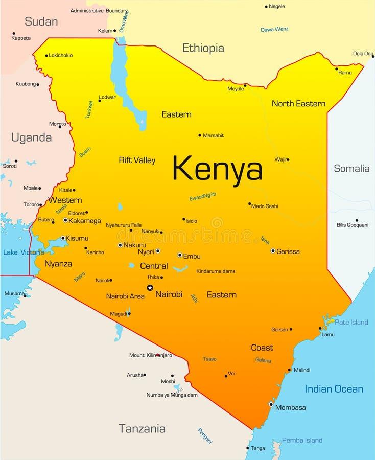 Kenia vektor abbildung