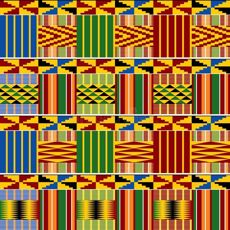 Kenia geometryczny ornament royalty ilustracja